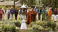 Members of Maitreya Instituut, Holland, participating in a ceremony on their land